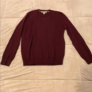 Burberry maroon blouse xs.  Cashmere.